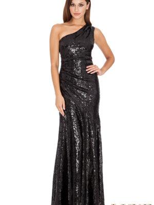 Rochie eleganta lunga cu paiete