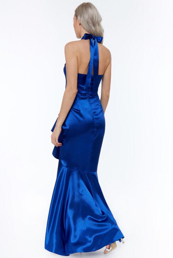 Rochie de ocazie albastra lunga
