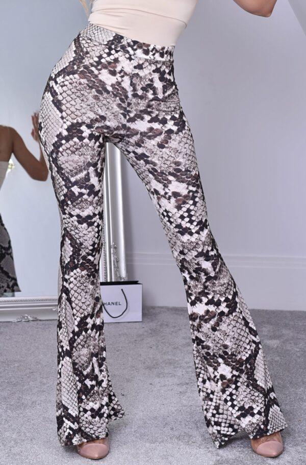 Pantaloni casual imprimeu snake