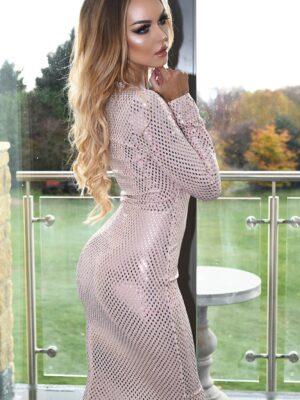 Rochie eleganta cu paiete