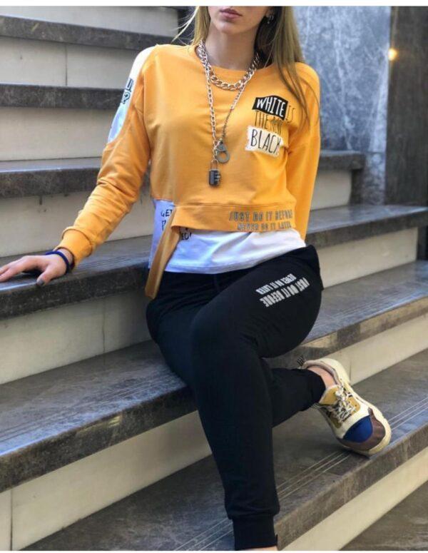 Pantaloni dama sport din bumbac