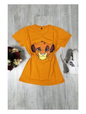 Tricou de dama portocaliu Lion King