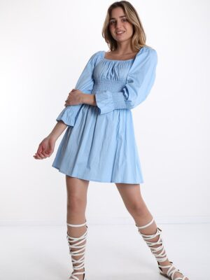 Rochie de primavara bumbac bleu