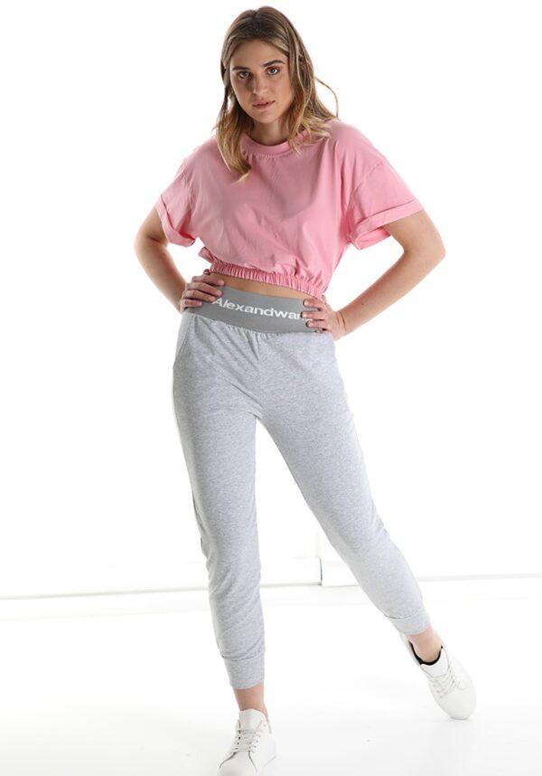 Tricou dama scurt bumbac roz