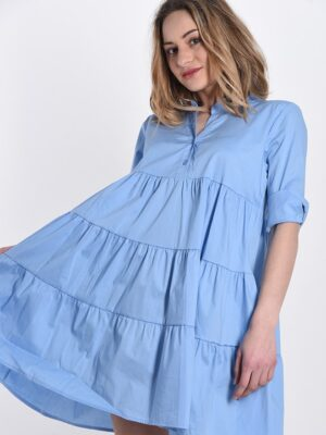 Rochie de zi bumbac bleu